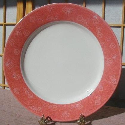 Set 4 SANGO POTPOURRI DOUBLE PINK  DINNER PLATES NEW  Sue Zipkin
