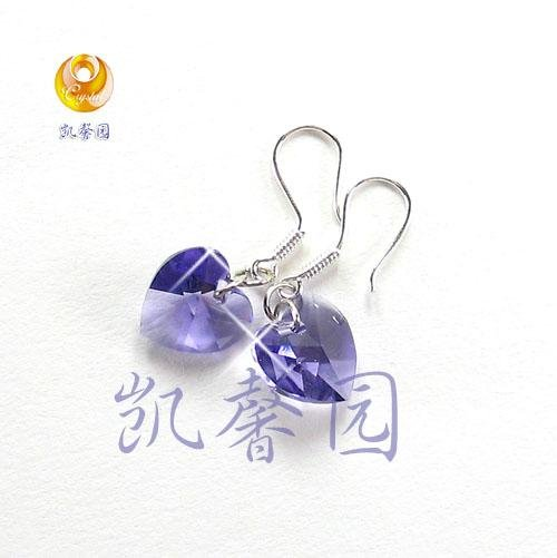 Swarovski Crystal heart shape earring(E-05)