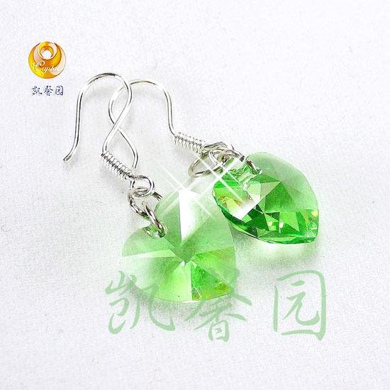 Swarovski Crystal heart shape earring(E-04)