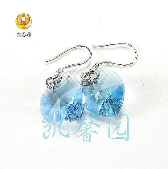Swarovski Crystal heart shape earring(E-06)