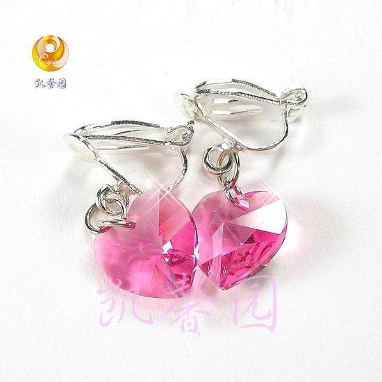 Swarovski Crystal heart shape earring(E-09)