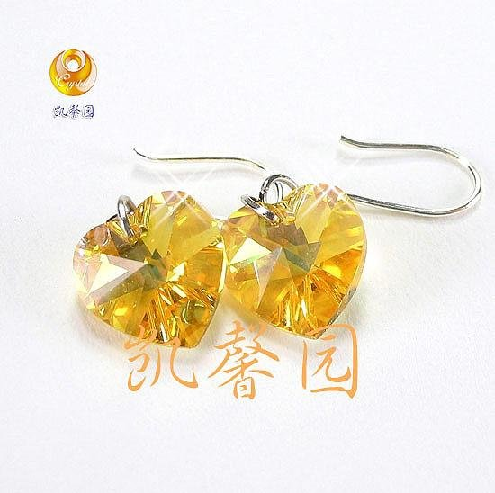 Swarovski Crystal heart shape earring(E-10)