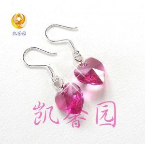 Swarovski Crystal heart shape earring(E-11)