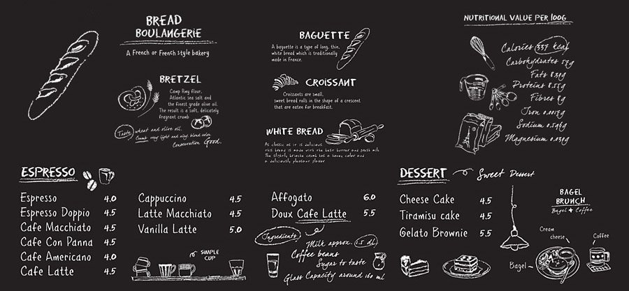Coffee Time Illustration Cuts in Black