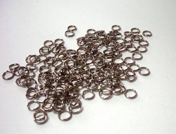 Silvertone Split Rings
