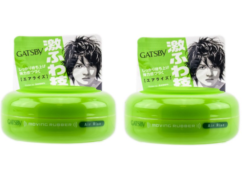2PCs Lot Japan Gatsby Wax Hair Styling Moving Rubber Series Air Rise 80g Free Shipping
