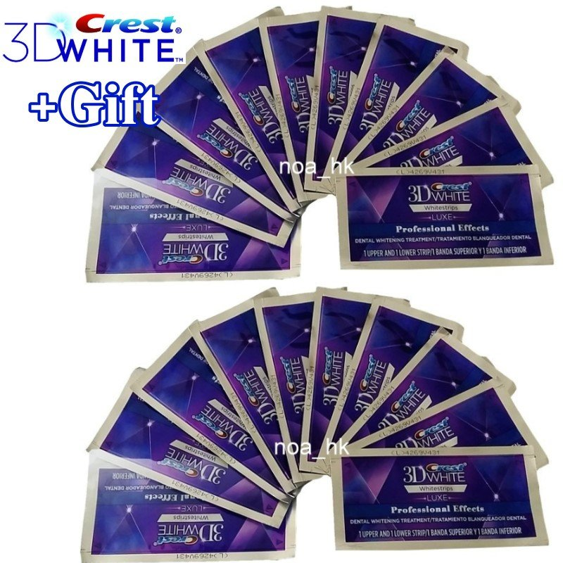Crest 3D White Luxe Whitestrips Professional Effects 40 Strips / 20 Pouches No Box (Made in USA)