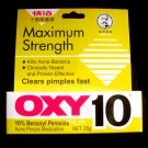 Mentholatum OXY 10 Acne Pimple Medication 25g Max. strength for stubborn pimples