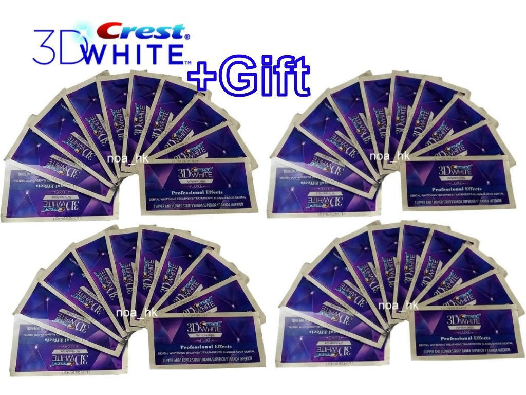 2X Crest 3D White Luxe Whitestrips Professional Effects 40 Strips / 20 Pouches (NO BOX)