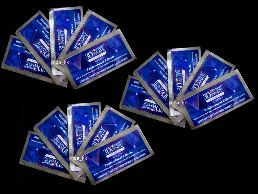 Crest 3D White Luxe Whitestrips Professional Effects 15 Pouches- Teeth Whitening