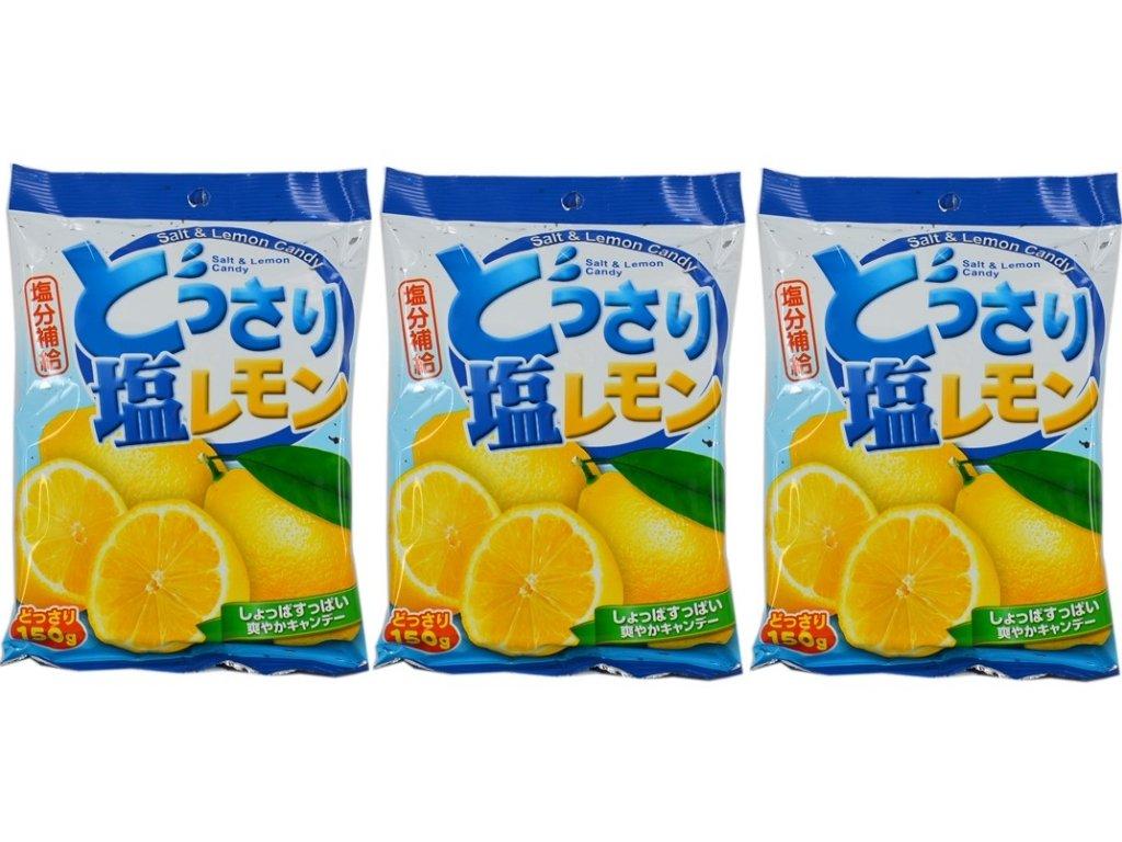 3X Salt & Lemon Candy 150g Japanese Snacks Food & Grocery