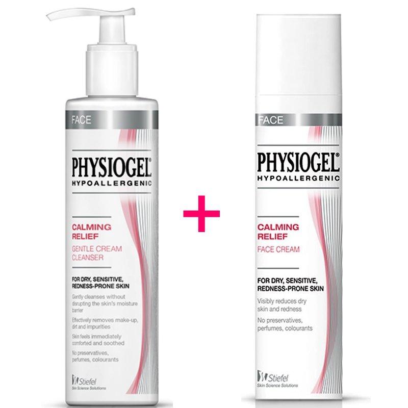 Physiogel Calming Relief Gentle Cream Cleanser 200ml & Face Cream 40ml Set