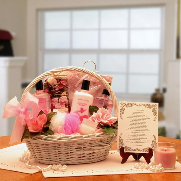 Buy holiday gift baskets women - Beautiful Woman Spa Gift Basket with Poem