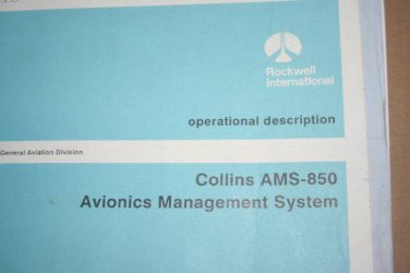 Rockwell Collins AMS-850 Avionics Management System Operational manual
