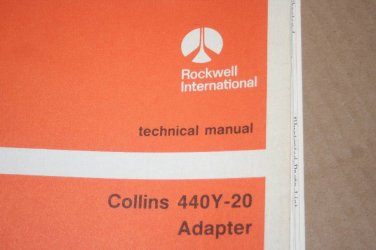 Rockwell Collins 440Y-20 Adapter Technical manual