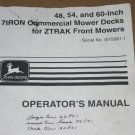 JD John Deere 7iron Ztrak Mower Operators Manual