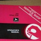 JD John Deere 355 offset disk Operators Manual