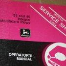 JD John Deere 35 45 Integral Mold Plow Operators Manual