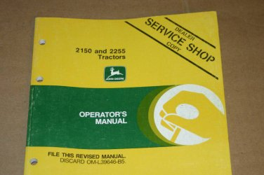 JD John Deere 2150 2255 Tractor Operators Manual