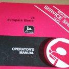JD John Deere 3e Backpack Blower Operators Manual