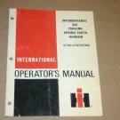 International IH 352 Harrow Operators Manual