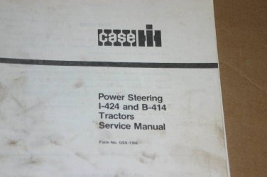 Case CNH I-424 & B-414 Tractor Power steering Manual