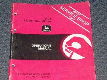 JD John Deere 1424 Mower-Conditioner Operators Manual