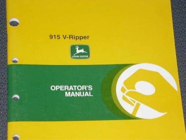 JD John Deere 915 V-Ripper Operators Manual