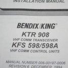 Bendix King KTR908+KFS-598/598A VHF Comm  Installation manual KTR-908