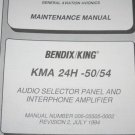 Bendix King KMA-24H-50/54 Audio Panel Install/maintenance/overhaul manual