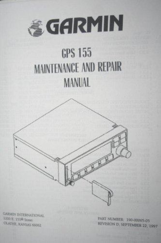 Garmin GPS155 GPS-155 Navigator Maintenance/Repair manual