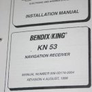 Bendix King KN53 KN-53 NAV Receiver Installation/Maintneance/Overhaul Manual