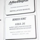 Allied Bendix King KMA26 MB Receiver Intercom maintenance manual KMA-26