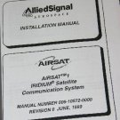AlliedSignal Airsat 1 Iridium Installation Operation Manual Avionics Honeywell