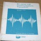 Bendix King RT-241A VHF Transceiver  Maintenance Operating Repair Manual 241B