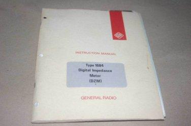 Genrad 1684 Digital Impedance Meter Instruction Guide Manual general Radio