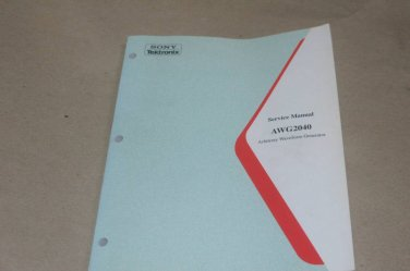 Sony Tektronix AWG2040 Arbitrary Waveform Generator Maintenance Service Manual