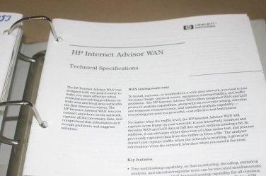 HP Internet Advisor WAN Technical specs +  Product Brochure overview  Manual