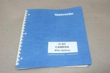 TEK Tektronix C-5c Camera Instruction users guide oparating Manual 070-5615-00