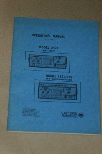 Valhalla Scientific 2521/975 Mini-Scope/DMM Counter Operation Manual