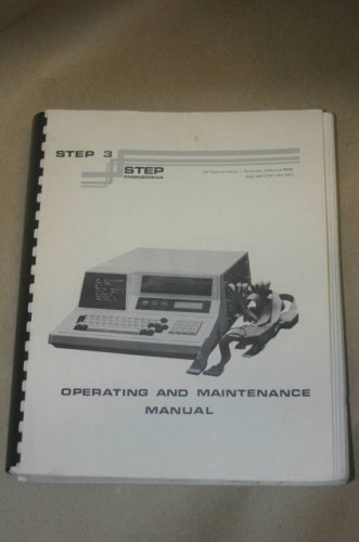 Step 3 Engineering  Operating Instruction Guide Maintenance Manual