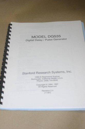 Stanford Research dg535 Digital Delay/ Pulse Generator Operation Service Manual