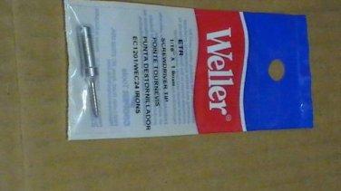 1 WELLER SCREWDRIVER TIP SOLDERING IRON TIP ETR 1.6mm for WEC24/EC1201 NEW
