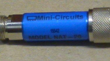 Mini Circuits NAT-20 20Db Attenuator N Connectors 50 ohm DC-1500 MHZ
