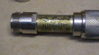 narda 20 dB ATTENUATOR 779-20 TYPE N RF HAM TEST dc-18GHz 20dB Fixed Attenuator
