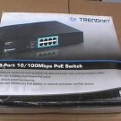 TRENDnet TPE-S80 10/100Mbps PoE Switch Power Over Ethernet