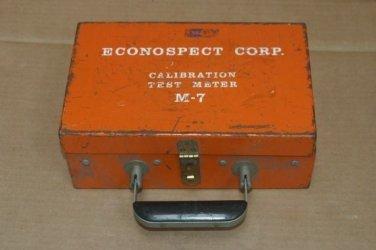 ECONOSPECT M-7 Calibration Test Meter MAGNETIZING AMPERES METER M7