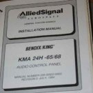 Bendix King KMA24H-50/54 Audio Panel Install/maintenance/overhaul manualKMA-24