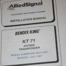 Bendix King KT71 ATCRBS Transponder Installation Manual KT-71 XPDR