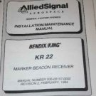 Bendix King  KR22 MB Receiver Marker BeaconMaintenance/Overhaul  Manual
